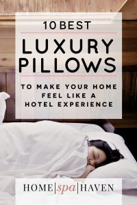 Best Hotel Luxury Pillows PIN for Pinterest