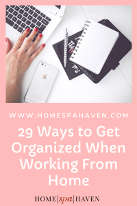 organized working from home
